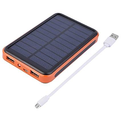 Lovelysunshiny Cargador Solar 20000mAh, batería Externa Banco de alimentación portátil Impermeable con 2 Puertos USB