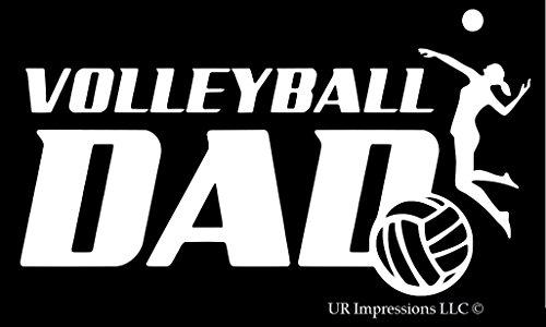 Net Vinyl Headband - UR Impressions Volleyball Dad Decal Vinyl Sticker Graphics for Cars Trucks SUV Vans Walls Windows Laptop White 7.5 X 4.3 Inch URI327