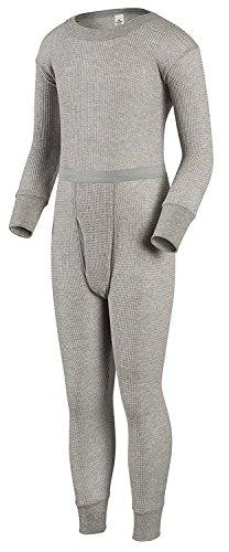 BABUBALA Warm;cozy Boys Traditional Thermal Underwear Shirt and Pant Set Heather GreySmall