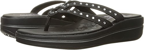 Skechers Women's Upgrades Be-Jeweled Flip Flop,Black Jewel,8
