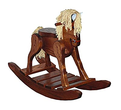 Child's Deluxe Oak Rocking Horse