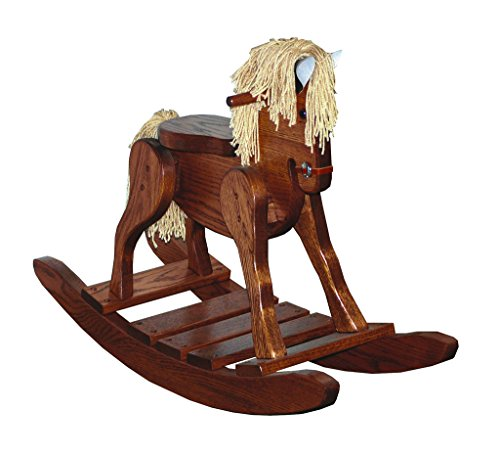 (Furniture Barn USA Child's Deluxe Oak Rocking Horse )