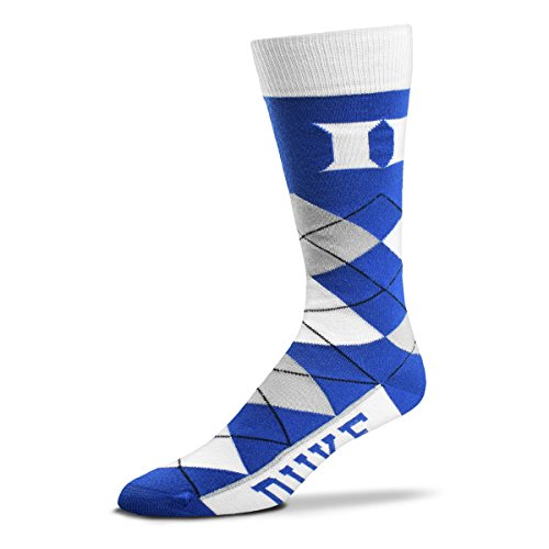 Blue Duke Devils Fan (For Bare Feet NCAA Argyle Lineup Socks-Duke Blue Devils-One Size Fits Most)