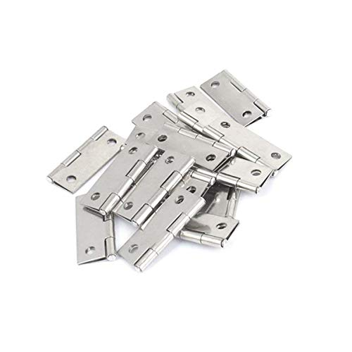 Gate Hinges Hardware (20 Pcs Cupboard Cabinet Hardware Gate Folding Door Butt Hinges 1.5inch)