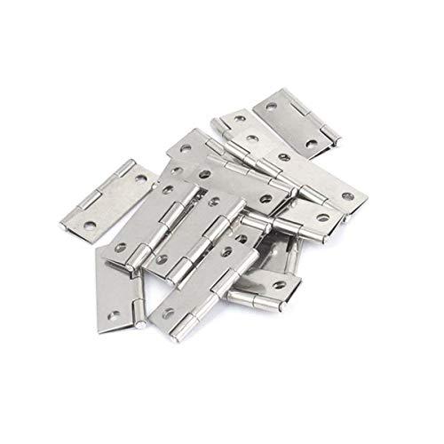 Hardware Hinges Gate (20 Pcs Cupboard Cabinet Hardware Gate Folding Door Butt Hinges 1.5inch)
