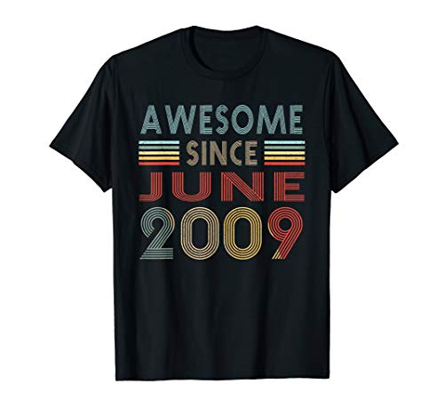 Vintage June 2009 Shirt 10 Years Old 10th Birthday Gift