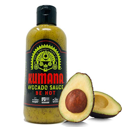 Kumana Avocado Hot Sauce. A Keto Friendly Hot Sauce made with Ripe Avocados, Mango and Habanero Chili Peppers. Ketogenic & Paleo. Gluten Free, No Added Sugar & Low Carb. 13.1 Ounce Squeeze Bottle.