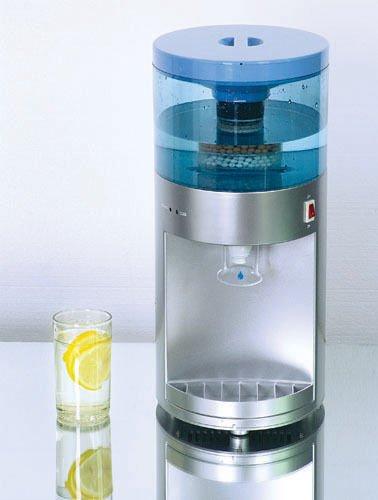 Deluxe - Dispensador Purificador y Enfriador de Agua Fría/Tiempo con Filtro de Carbono de