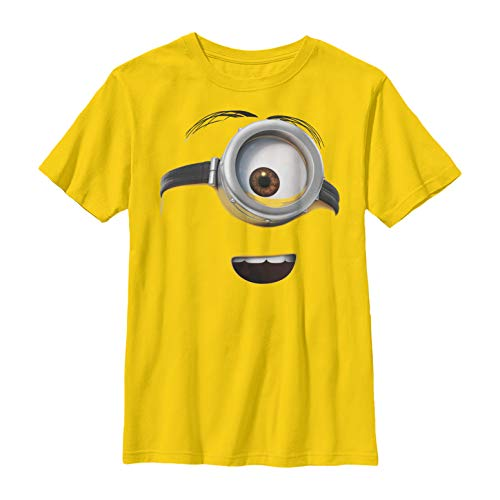Despicable Me Boys' One Eyed Minion Costume Yellow T-Shirt ()