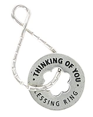 """Thinking Of You """"Always"""" Reversible Blessing Ring Keychain"""
