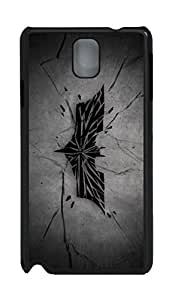 Samsung Galaxy Note 3 Case, Note 3 Case - Ultra Slim Fit Black Hard Case Bumper for Galaxy Note 3 Broken Knight Perfect Fit Back Case Covers for Samsung Galaxy Note 3