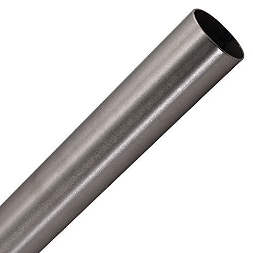Bar Foot Rail Tubing - Brushed Stainless Steel - 2