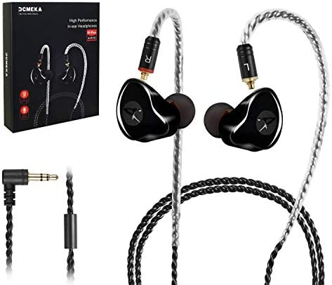 in-Ear Screens, [Newest Updated Version] Wired Earbuds Headphones/Earphones/Headset Twin Drivers with MMCX Removable Cables, Noise-Isolating Sweatproof Earphones HiFi Stereo (Black)