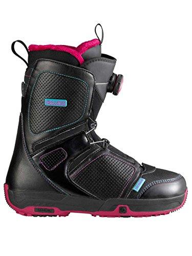 Salomon Snowboards Pearl Boa Snowboard Boot - Women's Black/Light Rubis, 24.0