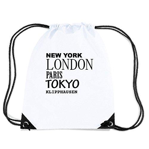JOllify KLIPPHAUSEN Turnbeutel Tasche GYM2378 Design: New York, London, Paris, Tokyo