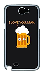 Beer Love Polycarbonate Hard Case Cover for Samsung Galaxy Note II N7100 White