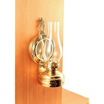 Amazon.com: Vermont Lanterns - Glass Oil Lamp & Cast Iron Wall ...