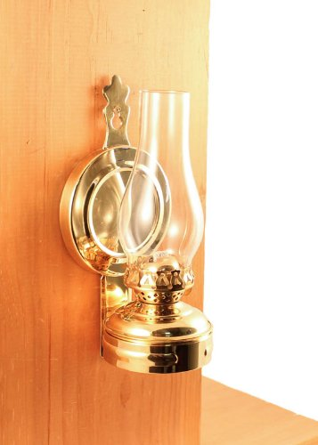 Hurricane Oil Lamps - Brass Mini XL Wall Lamp 7