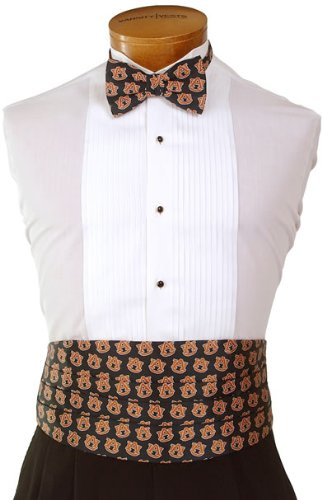 Auburn Cummerbund & Bow Tie Set - Auburn University Navy Cummerbund Set with ... Varsity Vests