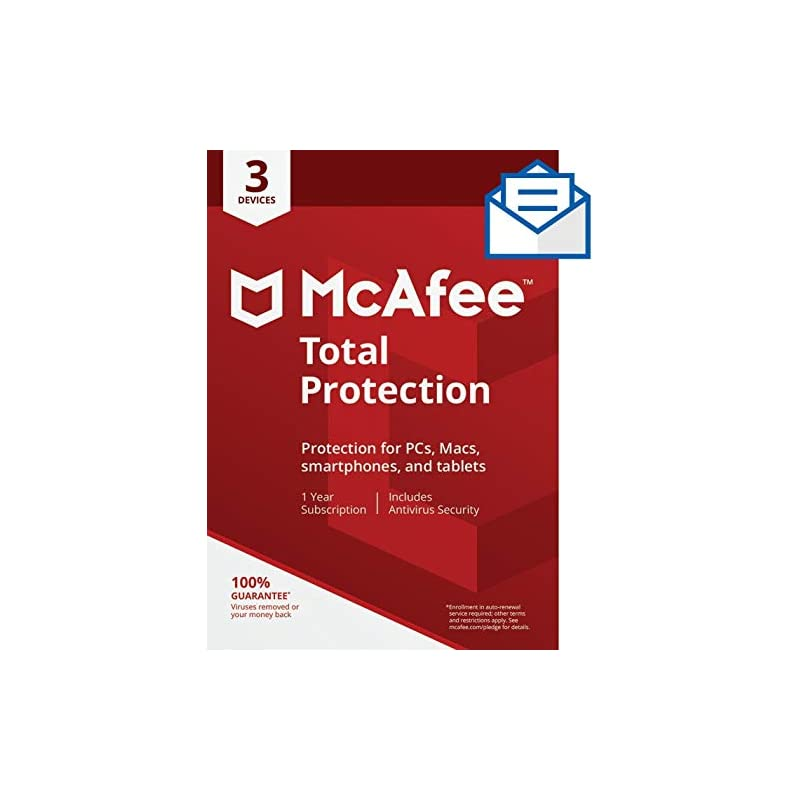 McAfee Total Protection - 3 Devices [Activation Card by Mail]