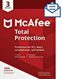 Software : McAfee Total Protection - 3 Devices [Activation Card by Mail]