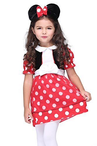 Vivihoo EK071 Cosplay Minnie Party Dress Toddler's Costume For Little Girl (S) (Cute Indian Costumes For Girls)