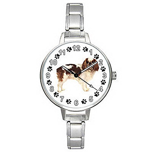 Spaniel Italian Charm Watch - BMTC368 Cavalier King Charles Spaniel Dog Italian Charm Bracelet Mens Ladies Watch