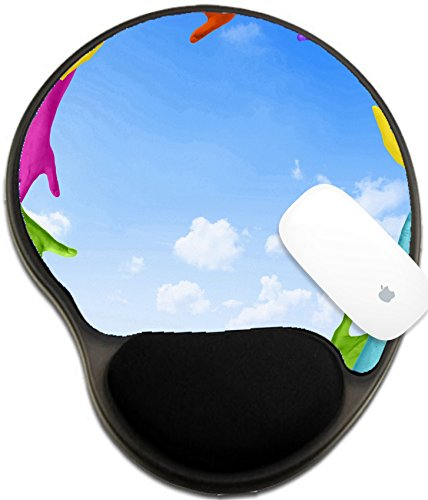 Luxlady Mousepad wrist protected Mouse Pads/Mat with wrist support design IMAGE ID: 35337319 Multicolored Arms Forming a Circle and Copy - Circle Armens St