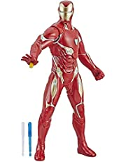 "Marvel Avengers Endgame Repulsor Blast Iron Man 13""-Scale Figure Featuring 15+ Sounds & Phrases"