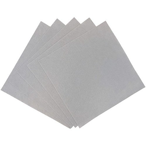 Just Artifacts 25pcs Craft Felt Sheets 12in x 12in Non Woven (Stone Grey) ()