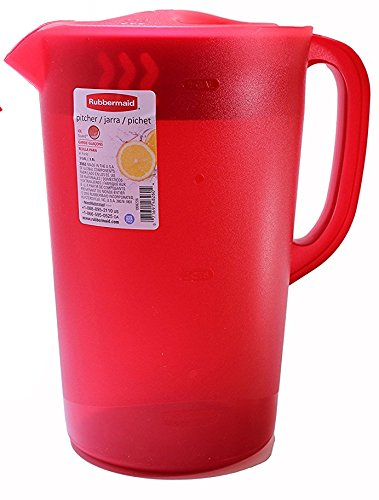 Rubbermaid  26073 Limited Edition Dishwasher Safe Pitcher, 1 Gallon, Red
