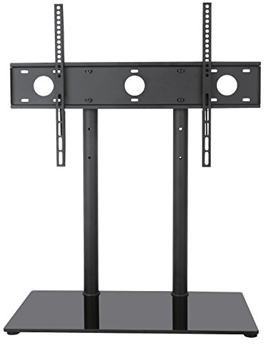 VIVO Universal Economic LCD Flat Screen TV Table Top Stand w/ Glass Base for 32