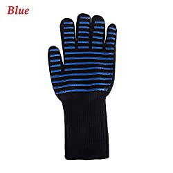 Oven Mitts Oven Sleeves 1pc Temperature Oven Mitts Bbq Microwave Cooking Gloves Insulated Silicone Heat Resistant Stripe Grill Mitt Shredder Oven Mitten Mountain Heat Kitchen Food