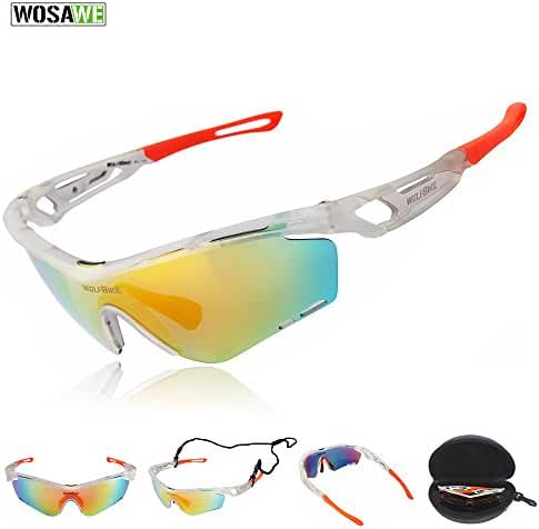 WOLFBIKE POLARIZE Sports Cycling Sunglasses for Men Women Cycling Riding Running Glasses