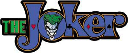 Licenses Products DC Comics Batman Joker Logo - Joker Decal