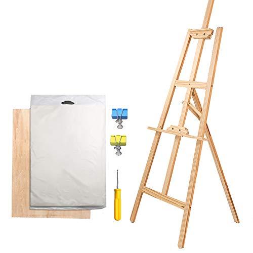 イーゼル描画ボードセット木製スケッチボードオイルイーゼル水彩描画ボード折りたたみ多機能ブラケット (サイズ さいず : 175cm)