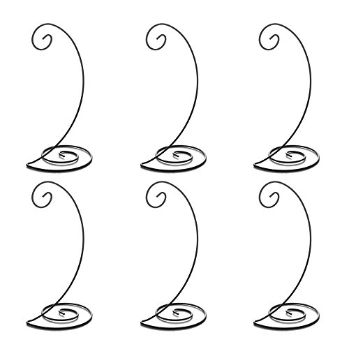 HOHIYA Christmas Spiral Ornament Display Stand Holder Hook Hanger Dog Cat Glass Photo Iron Hanging Rack for Globe Air Plant Terrarium Witch Ball Bauble Home Party Craft Wedding 10inch(Black,pack of (Wholesale Glass Ball Ornaments)