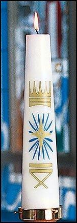 Wax Christ Candles (Nativity) - Nativity Christ Candle