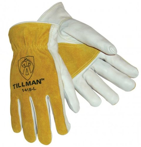 Tillman 1418 Reinforced Top Grain/Split Cowhide Drivers Gloves - Large