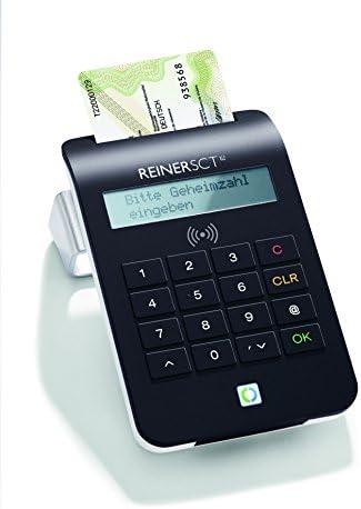 Reiner SCT cyberJack RFID Komfort Lector de Tarjeta Inteligente Negro USB 2.0 - Lector de Tarjetas de Memoria (Negro, 1,5 m, USB 2.0, TUV, BSI, 80 x 22 x 124 mm, 145 g): Amazon.es: Informática