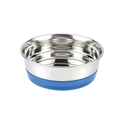CROCI-Bol-en-Acier-pour-Chien-Fluo-Bleu-820-ml