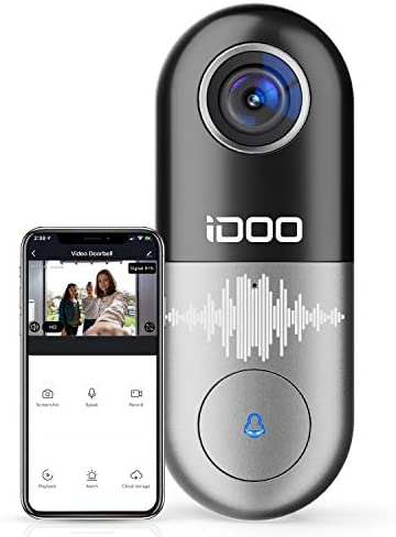 Video Doorbell WiFi,128GB 1080p HD Doorbell Camera Chime,2-Way Audio,Motion Detector,Easy Installation,Night Vision,Home Security,Requires Existing Doorbell Wires,Smart APP iOS Android