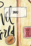 Iraq: Ruled Travel Diary Notebook or Journey  Journal - Lined Trip Pocketbook for Men and Women with Lines