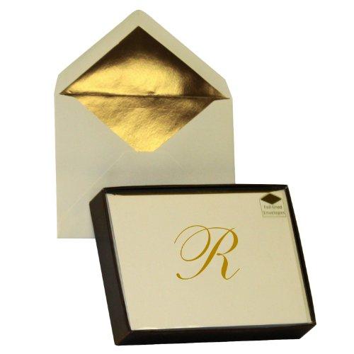 Designer Greetings Monogram Boxed Note Cards - Letter R (622-00144-000)