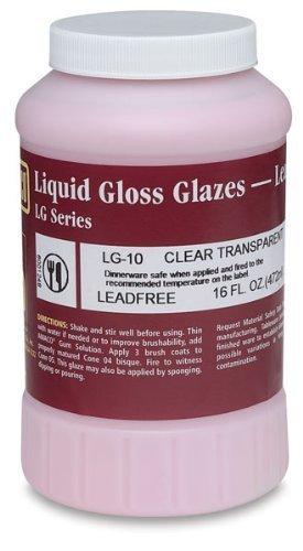 Amaco LG-10 Lead Free Liquid Gloss Glaze, Clear, Gallon by AMACO