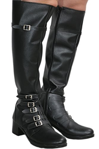 Scarlet Witch Black PU Knee-high Boots Shoes Costume Cosplay Prop Female US8.5 by Hotwinds (Image #7)