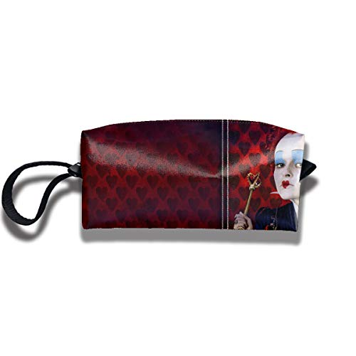 HomeYdecor The Red Queen Alice in Wonderland Travel Toiletry Case Make Up Bag Pencil Case Creative Stationery Students Receive Bags Waterproof Cosmetic Bag