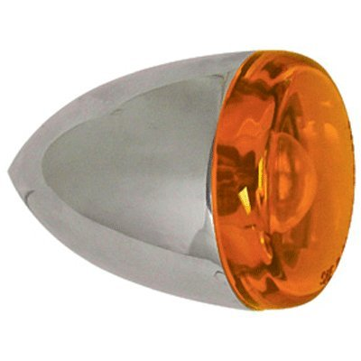 Bkrider Rear Turn Signals for Custom Harley Applications Amber Lens Pointed Tail Single Function Bulb (C01055882)