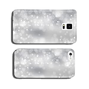 Winter light background with sparkle cell phone cover case Samsung S6