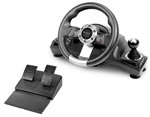 Subsonic SA5156 - Drive Pro Sport Racing Wheel for Playstation 4, PS4 Slim, PS4 Pro, Xbox One, Xbox One S and ()